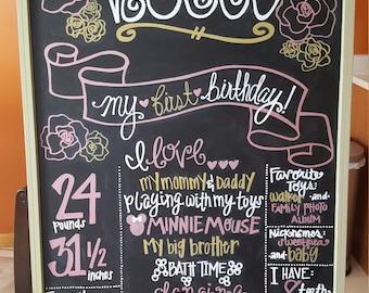 Hand Drawn Custom Birthday Chalkboard