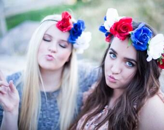 Patriotic Flower Crown
