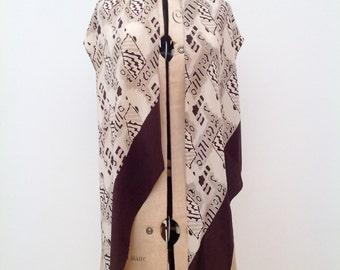 1930s silk scarf Art Deco geometric design vintage antique