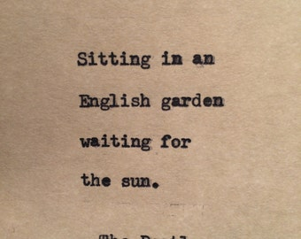 The Beatles I Am the Walrus Typewriter Quote