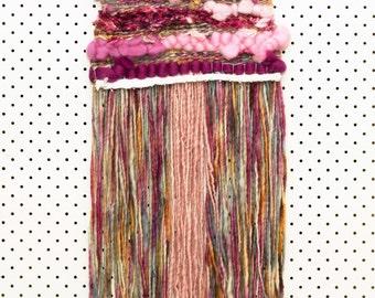Wall Art Weaving Pink