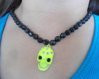 Neon Skull Necklace