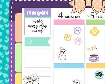 Maltese Planner Stickers - Dog stickers for Erin Condren, Happy Planner & any other planner!