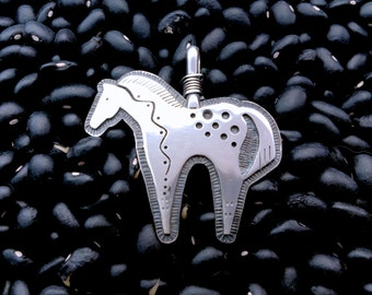 Horse Pendant w/ leather necklace