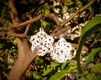 Colors beads earrings.