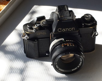 Canon F1n Professional SLR with 50mm f1.8 S.C and AE viewfinder