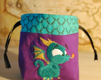 Baby Dragon Dice Bag