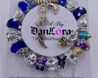 """DanLora """"Its a Boy"""" Bracelet Chain and Charms"""