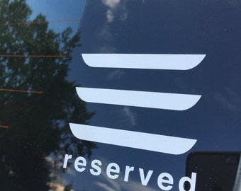 tesla model 3 reserved vinyl car decal window sticker - Frise Vinyle