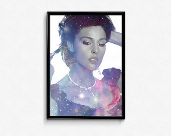 Bellucci - Women of the Universe Collection - Digital Art Poster Print of Monica Bellucci