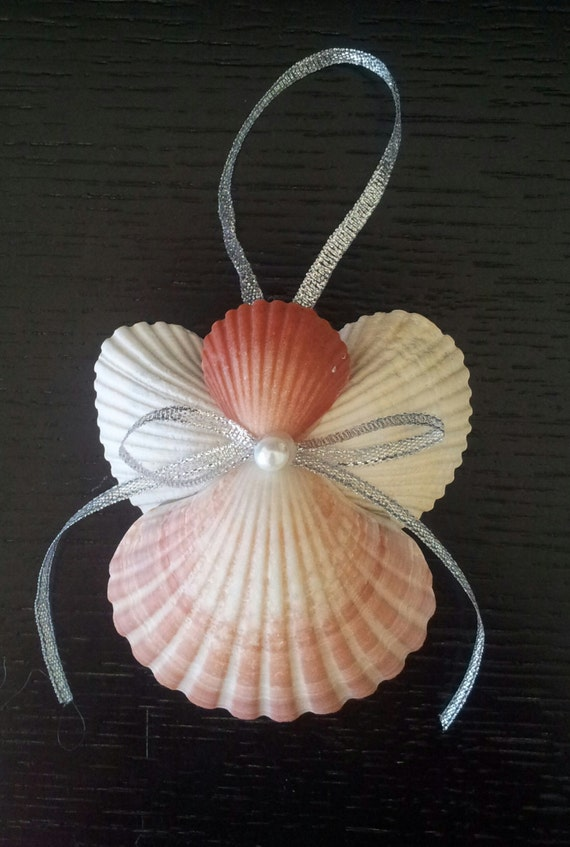 Seashell angel beach ornament angel ornament beach decor for Seashell ornaments craft