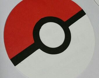 kit of 10 invitation cards,  customer choice's print, pokemon pokeball theme