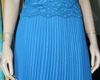 Untagged, vintage blue, flapper style dress size 8/10