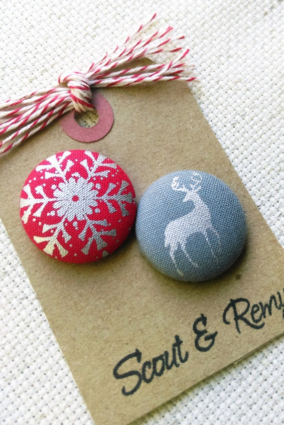 Christmas/Winter Needle Minder Snowflake/Reindeer NeedleMinder