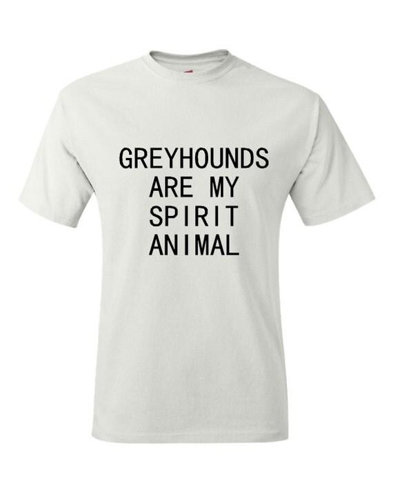 Greyhound T Shirts Rescue Greyhounds Are My Spir...