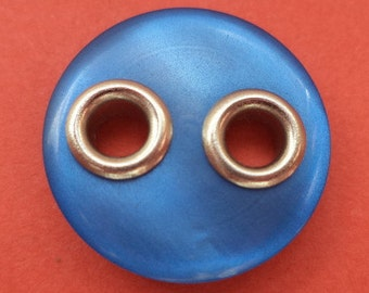 10 blue buttons 18mm (4888) button blue