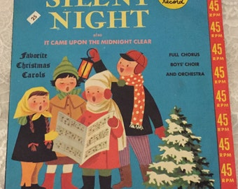 1950 Near MINT Condition ~ Silent Night 45RPM by Golden Records ~  The Sandpiper Chorus directed by Mitch Miller
