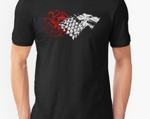The White Wolf || King of the North Shirt Game of Thrones T Shirt / Unisex Soft Tee 5 styles / Dire Wolf/ Stark / Jon Snow / Ghost/ Gift