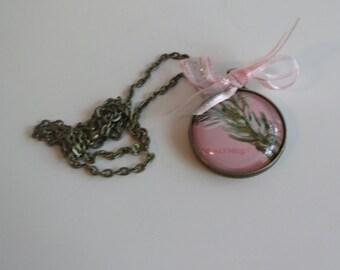 Pink Camo Pendant Necklace