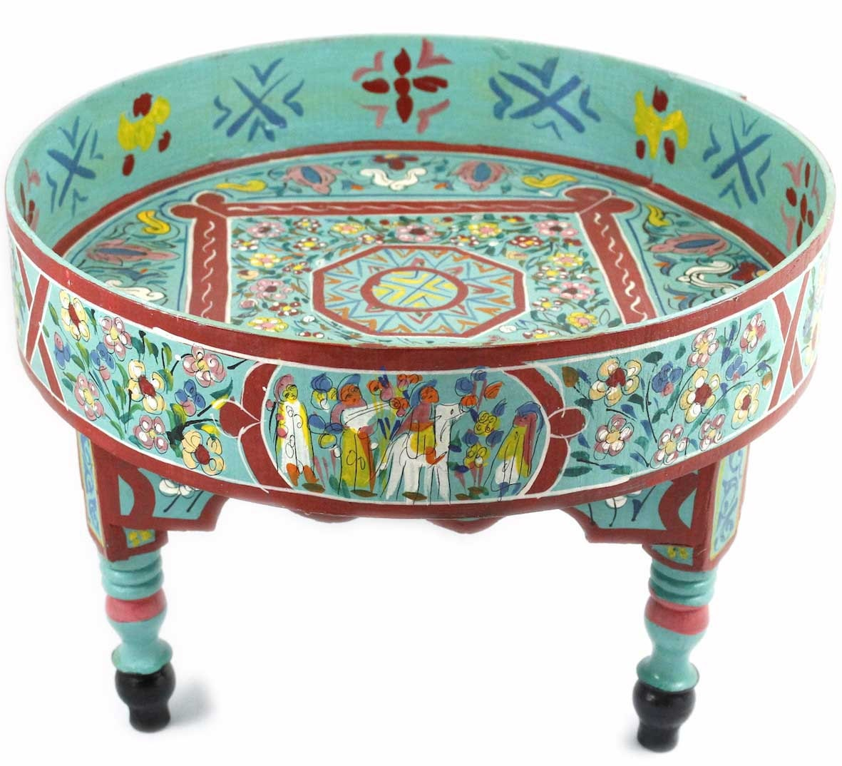 Mint Green Hand Painted Coffee Table By Babelsouk On Etsy