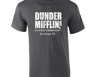 Dunder Mifflin costume tv show office party college halloween retro vintage - Apparel Clothing - Mens T-shirt - 072