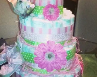 Diaper Cake Bird Theme