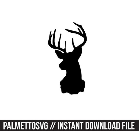 deer head svg dxf silhouette cameo cricut explorer cut files clip art ...