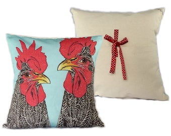 Two Chickens Pillow Case