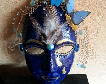 Mask handmade and decorated
