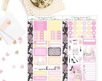 Miss Beauty Sticker kit / Personal planner stickers