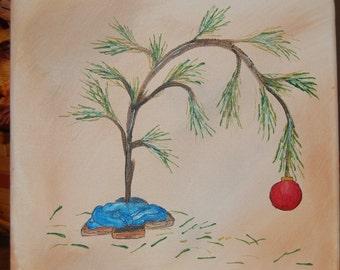 """A """"Charlie Brown"""" Christmas Tree"""