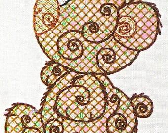 Mylar Swirly Bears  ( 10 Machine Embroidery Designs from ATW )