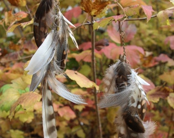 Native Owl & Duck Feather Earrings (100% Cruelty Free)