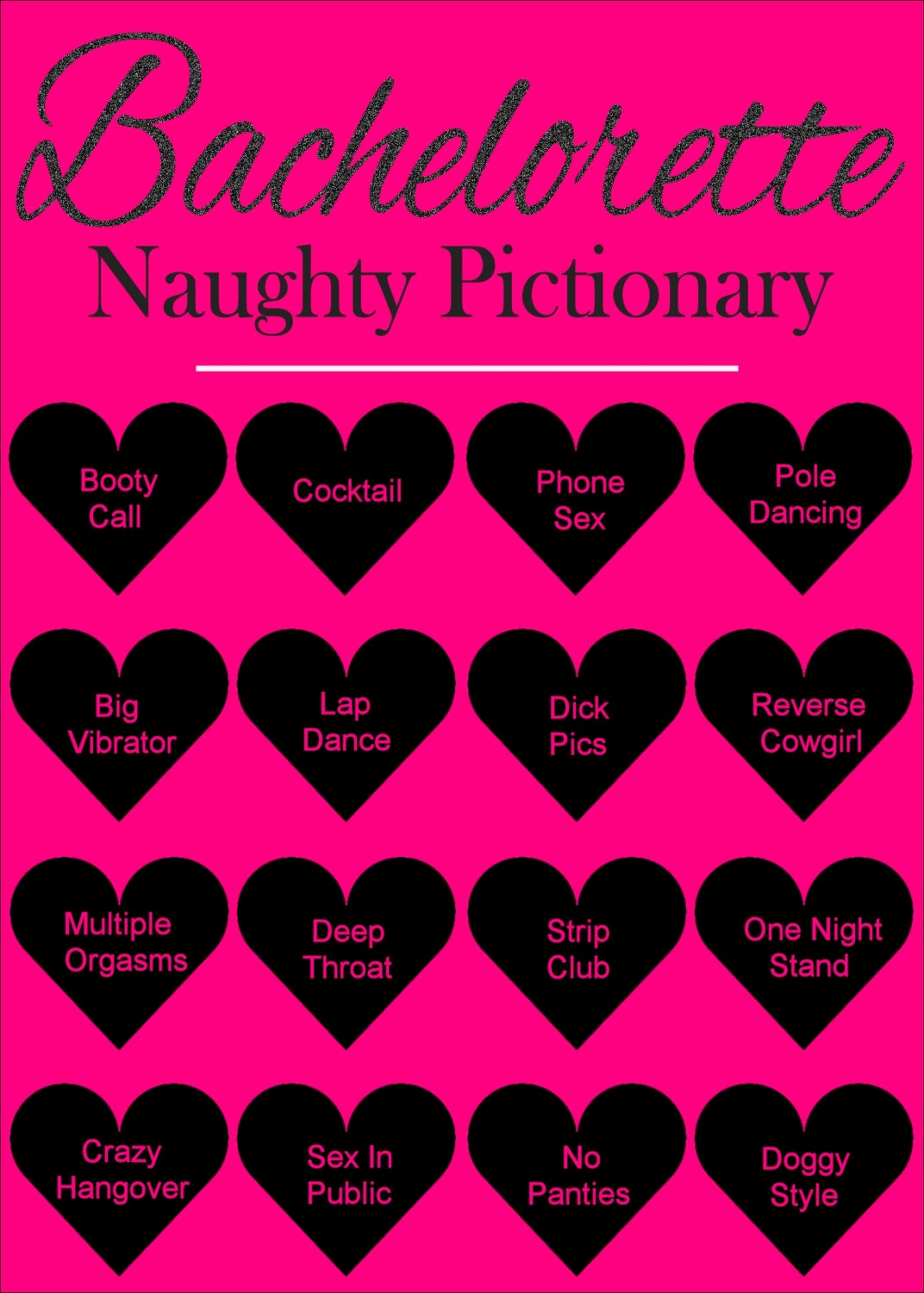Bachelorette Party Games Dirty Pictionary by ...
