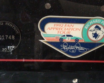 1992 Richard Petty clock from fan appreciation tour