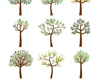 Family tree clipart | Etsy