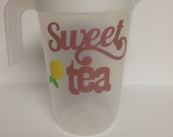 Plastic sweet tea container