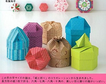 Origami Boxes - Japanese Craft Book   Origami box Chiyogami, japanese paper