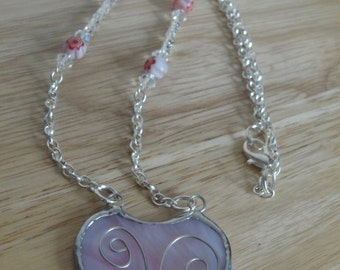 Perfect gift for Valentine's day. Heart necklace.