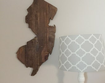 Wooden Reclaimed New Jersey State Sign