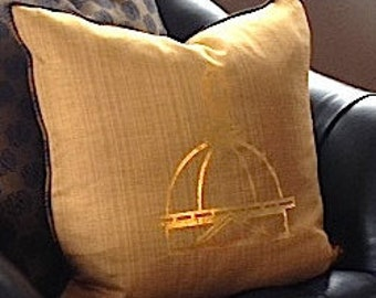 Notre Dame Gold Dome Pillow