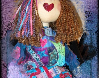 Remember Me Art Journal Finished Doll