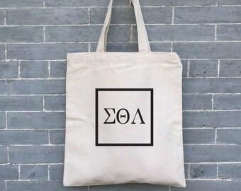 Sorority Tote Bag, Fraternity Bag,  Eco friendly Bag, Eco Bag, Canvas Tote Bag, Organic Tote Bag, Beach Bag