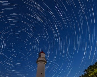 Lighthouse with Star Trails, Victoria, Australia