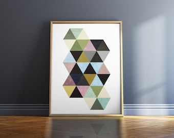 Geometric Art Print Wall Art Print Abstract Wall Art Prints Geometric Print Art Print Shop