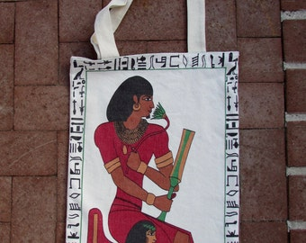 Egyptian Pharaoh & Queen with Hieroglyphic Towel Beach/Shopping Tote Bag