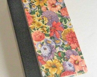 Vintage Fabric Covered Photo Album 23 Double Sided Pages