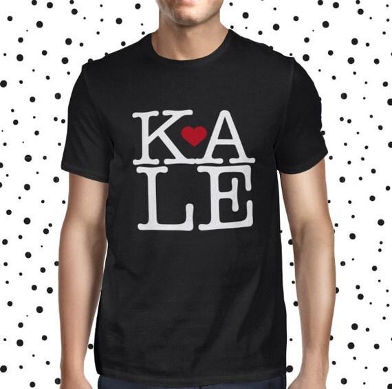 Kale Vegan Shirt - NY Love U - Vegan Tshirt - Vegan Tee - Mens Vegan Clothing - Healthy - Funny Male Tee - Vegetarian - Plant-based T-shirt