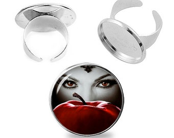 Regina Ring Evil Queen Adjustable ring Once upon a time Jewelry Fanboy Fangirl