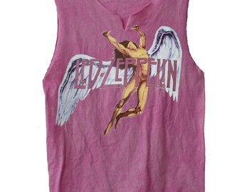Colorful Swan Song - Led Zeppelin vintage look muscle shirt